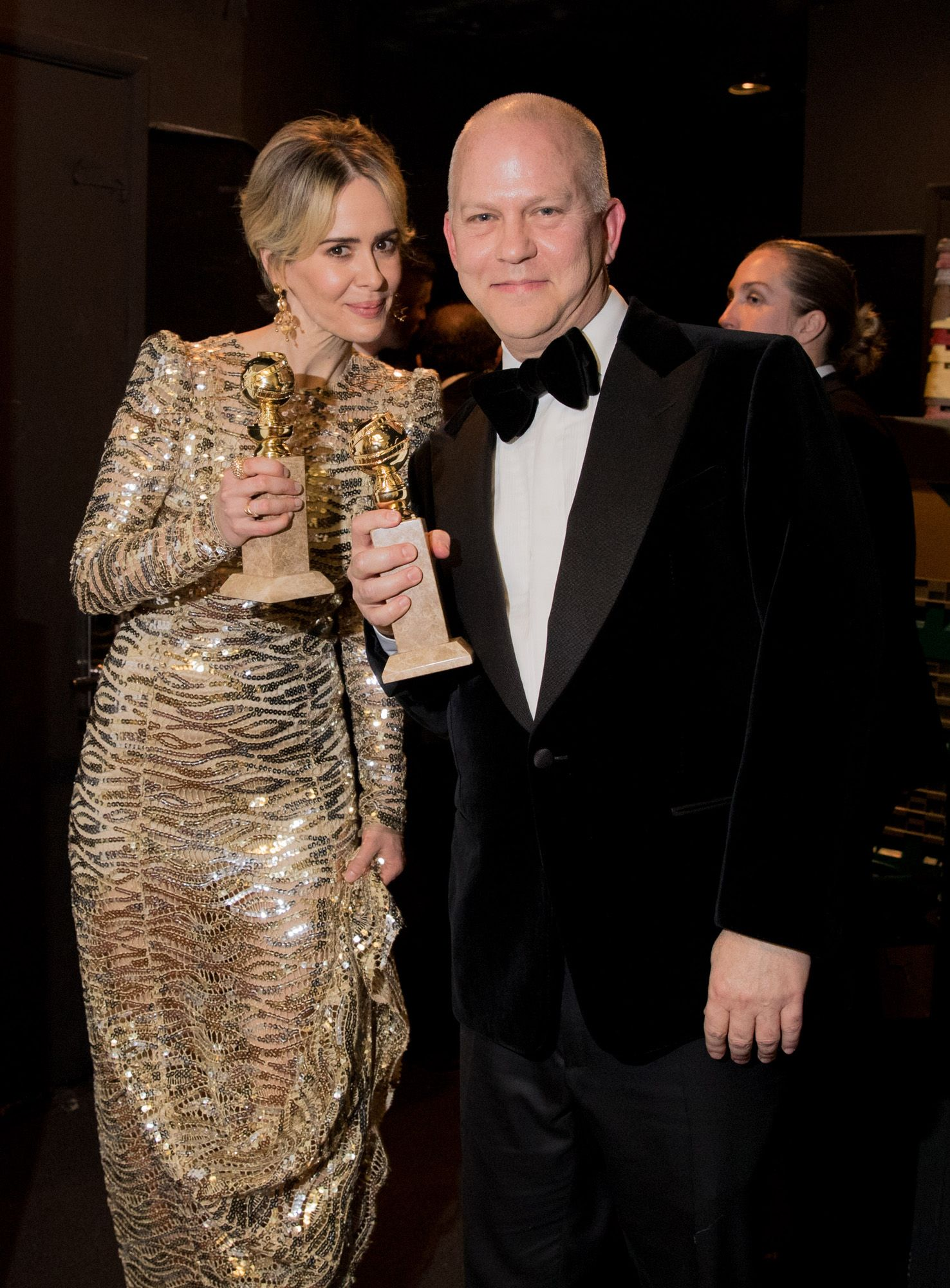 Go Behind the Scenes at the 2017 Golden Globes - Sarah Paulson