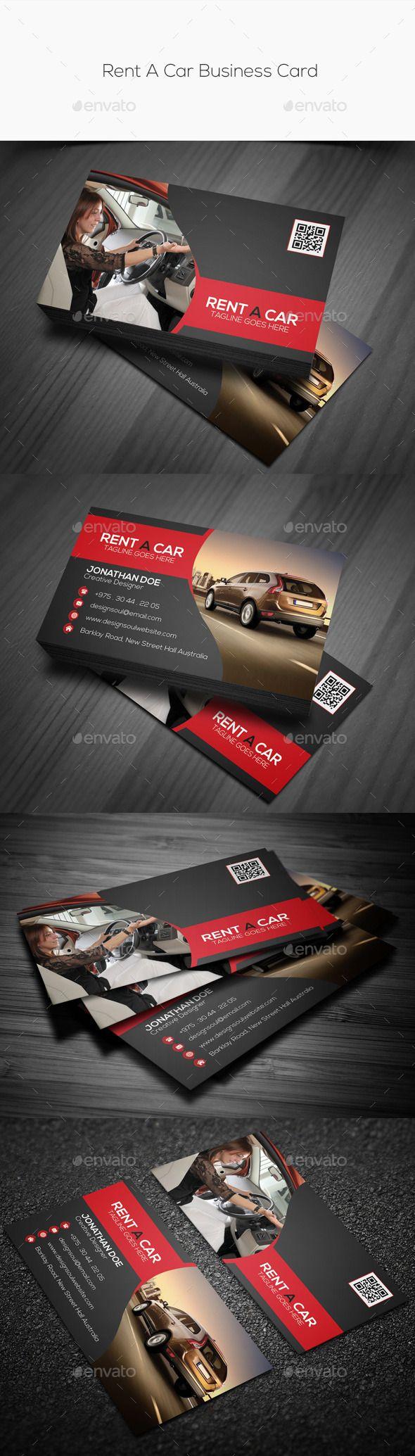 Car sticker design download - Rent A Car Business Card