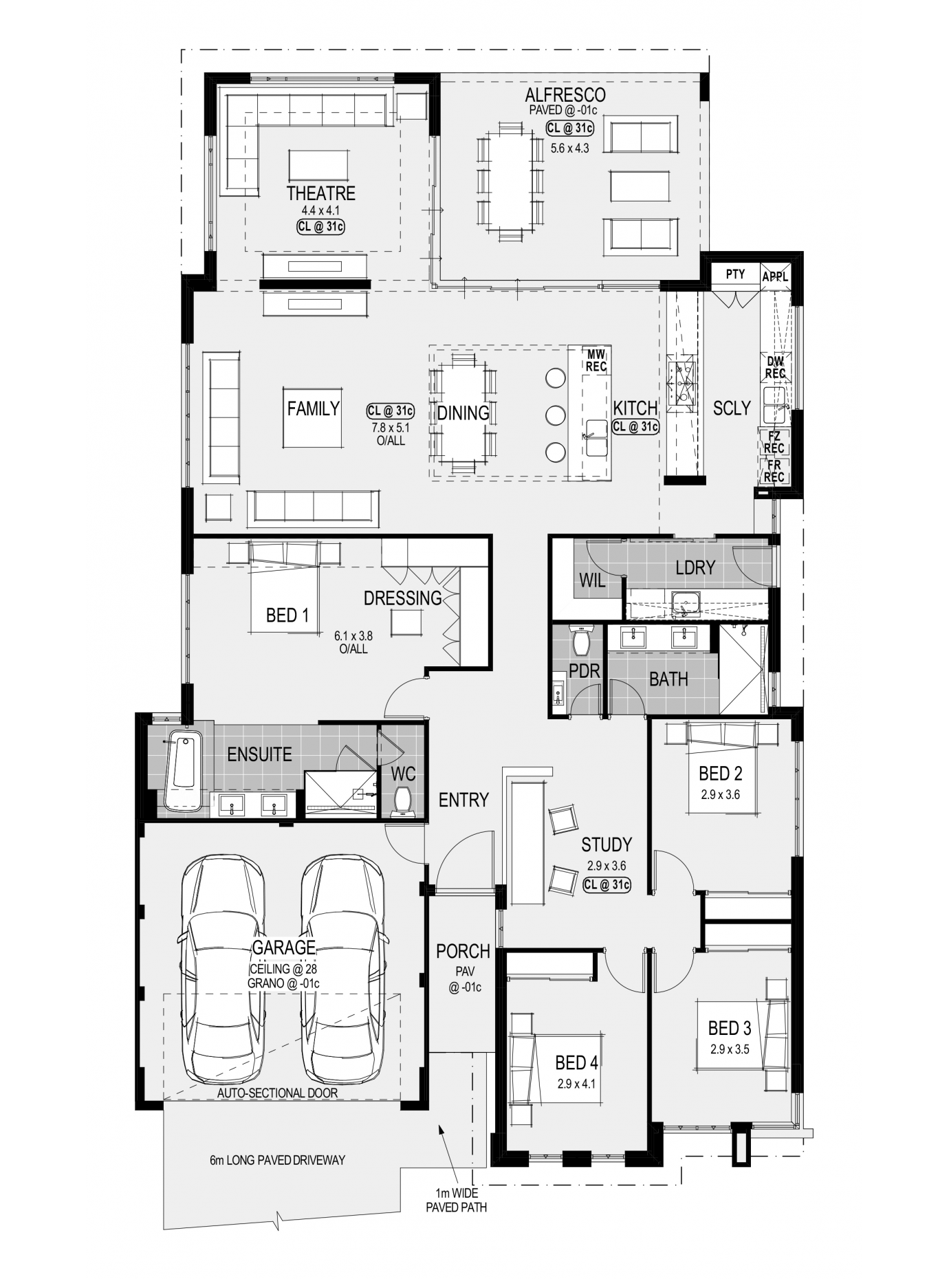The Oakland Platinum Display Home By Home Group Wa Newhousing Com Au House Plans Australia House Plans Beach House Floor Plans