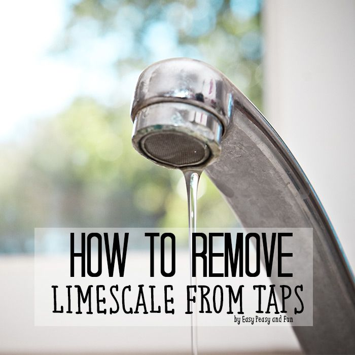 How To Remove Limescale From Taps | Taps, Easy peasy and Household