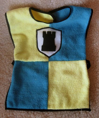 Knightly Bib. Constructed Of 100% Child Safe Washable