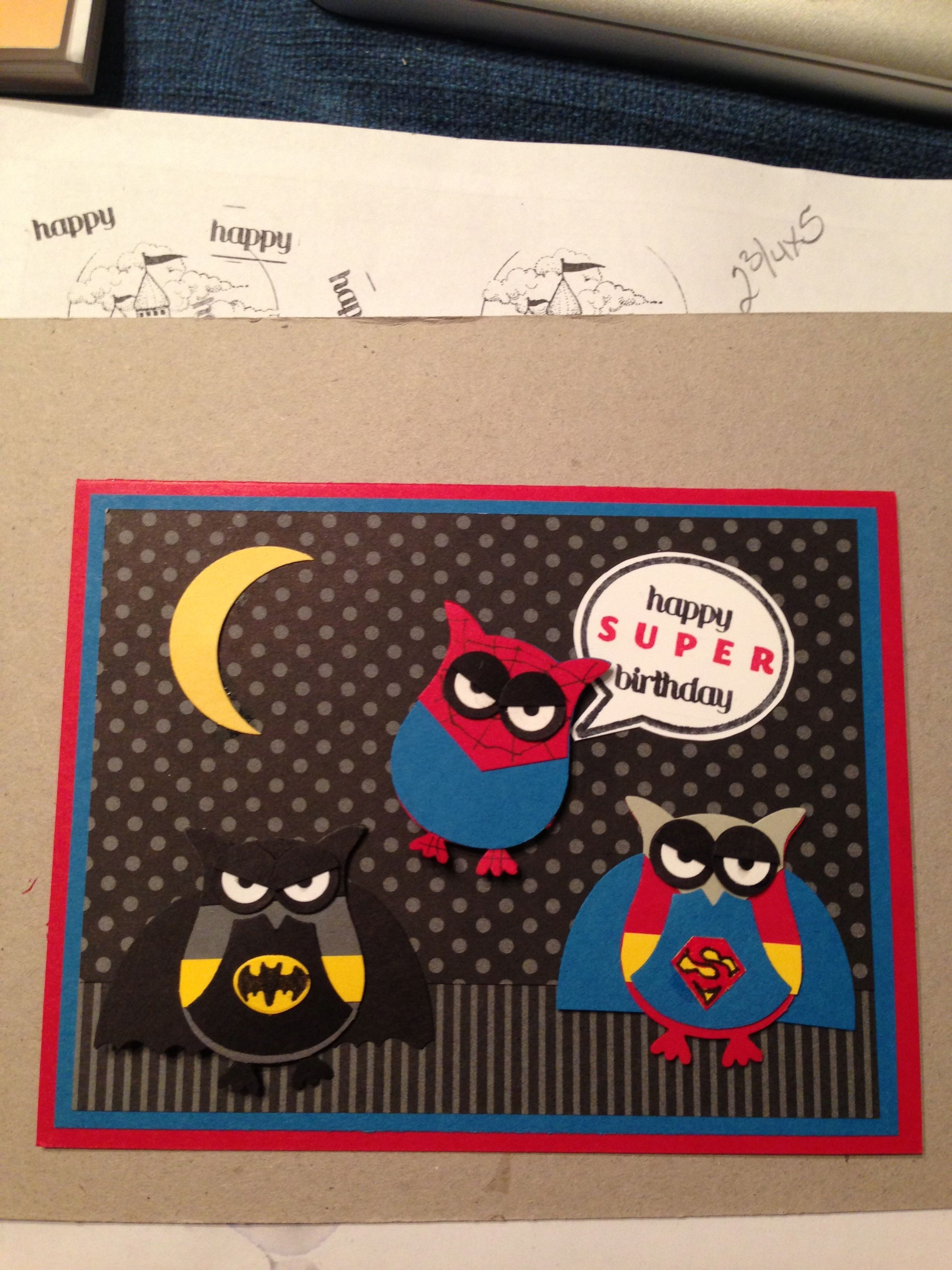 Heres my superhero birthday card from the stampin up owl punch heres my superhero birthday card from the stampin up owl punch lots of inspiration from bookmarktalkfo Images