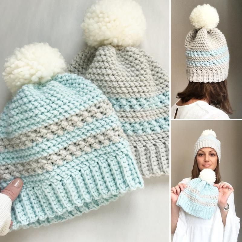 The Icelyn Beanie by Ruby Webbs Crochet Adult Hat 2f34b17c1dce