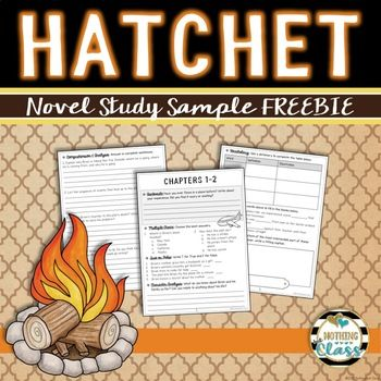 This Is A 7 Page Free Sample From My Common Core Aligned Book Study For Hatchet By Gary Paulsen It Inclu Hatchet Novel Study Hatchet Novel Hatchet Book Study