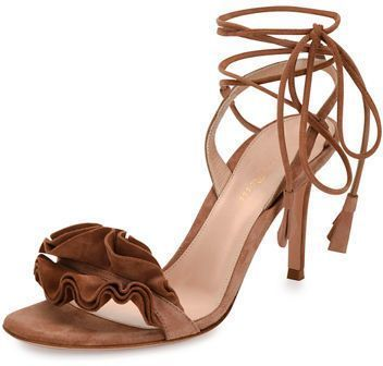 Sergio Rossi Suede Ruffle Pumps discount 2014 ojfvX76nD