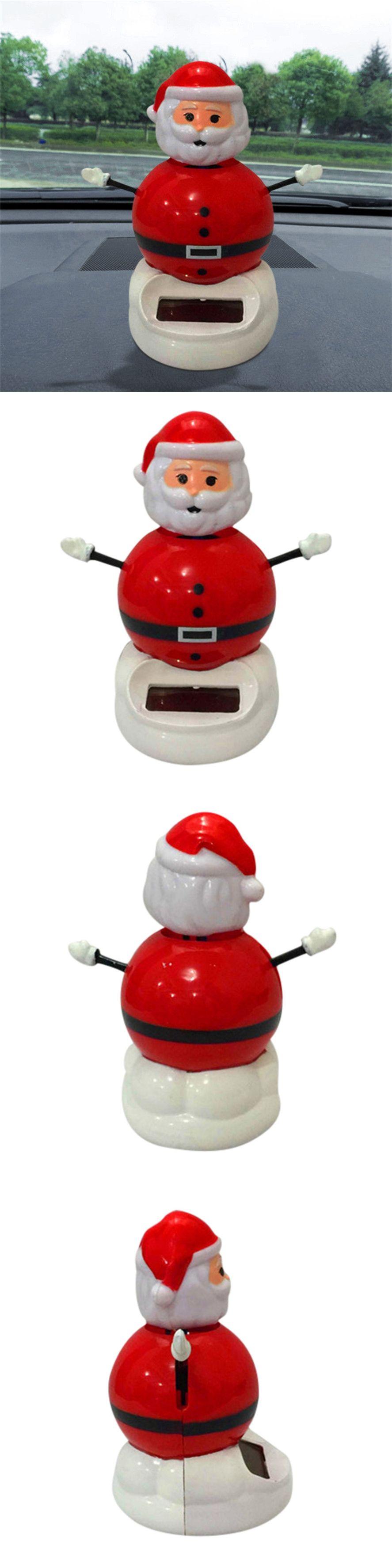 Car dashboard accessories toys  CARPRIE PC Christmas Car Inner Decor Solar Powered Dancing Swinging