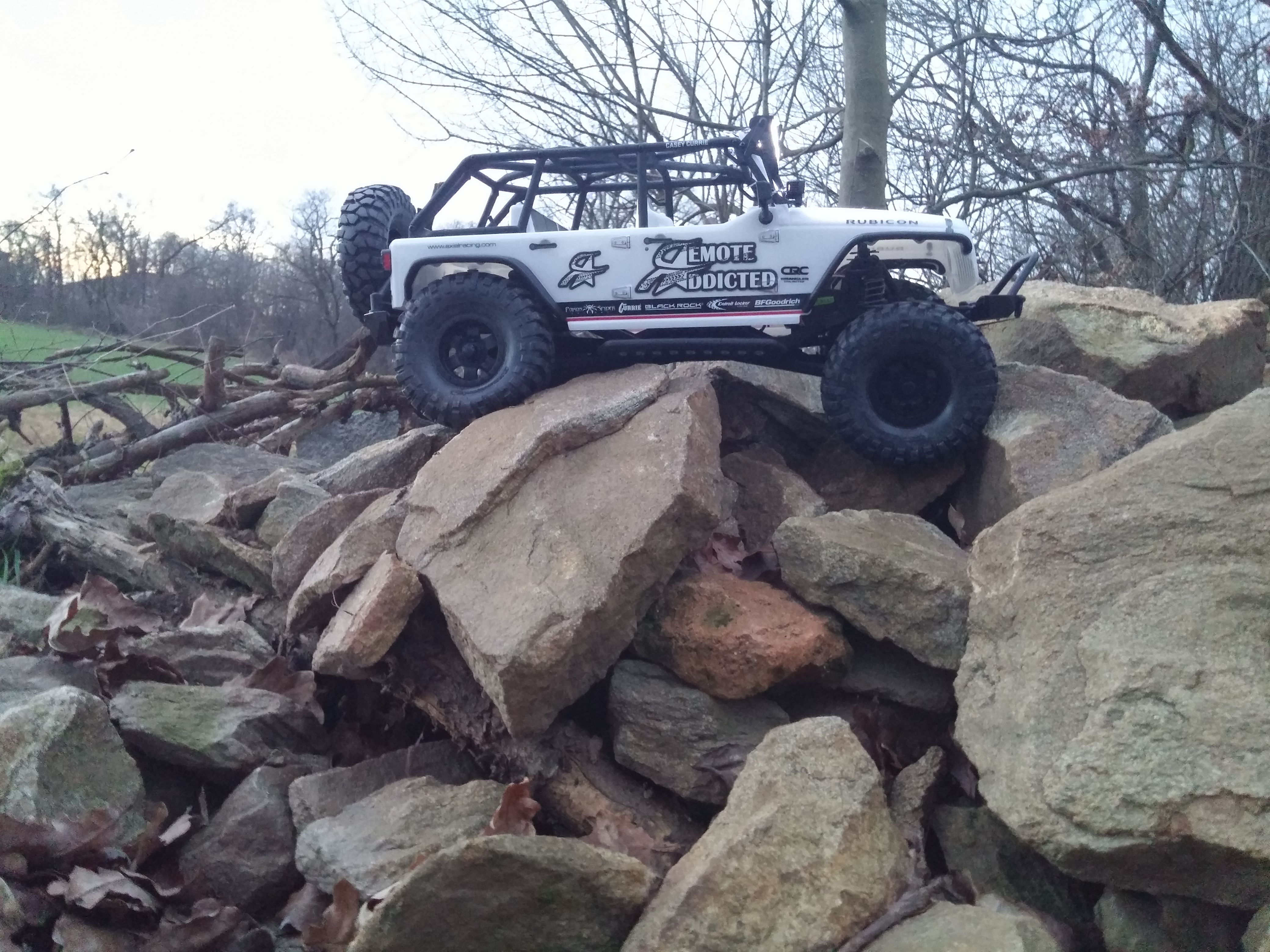 Crawling Over Rocks Still 100 Stock Rc Rctruck Jeep