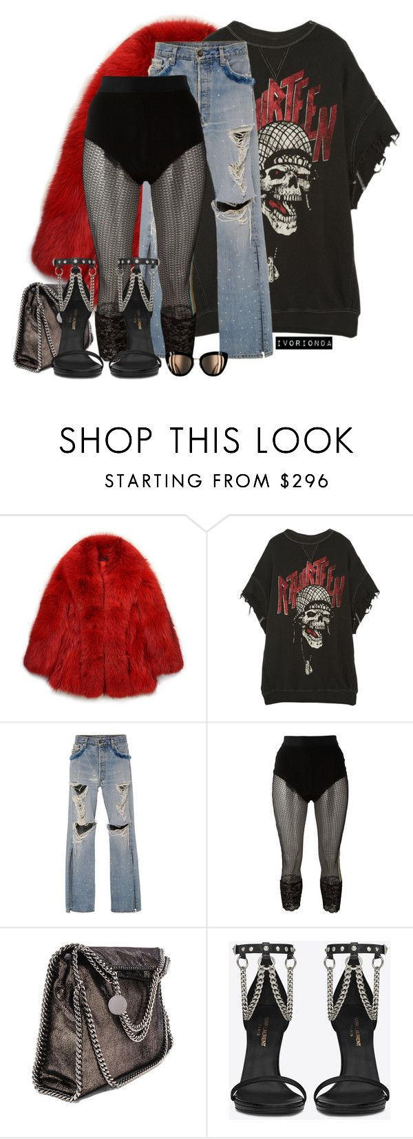 """""""io"""" by ivorionda ❤ liked on Polyvore featuring GUILTY BROTHERHOOD, R13, Jonathan Simkhai, Faith Connexion, STELLA McCARTNEY and Yves Saint Laurent"""