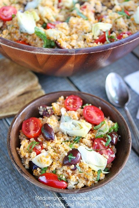 Mediterranean couscous salad from Two Peas and Their Pod