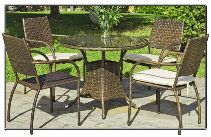 Mesa Y 4 Sillones Rattan Para Jardin 70 Mob Jar 13 Outdoor Decor Outdoor Furniture Sets Outdoor Furniture