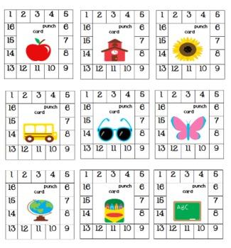 Positive Behavior Punch Cards Behavior Punch Cards Punch Cards Positive Behavior