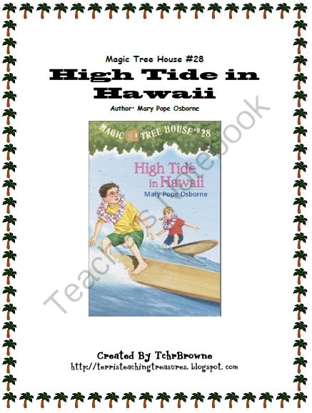 28 Magic Tree House High Tide In Hawaii Novel Study From Terri