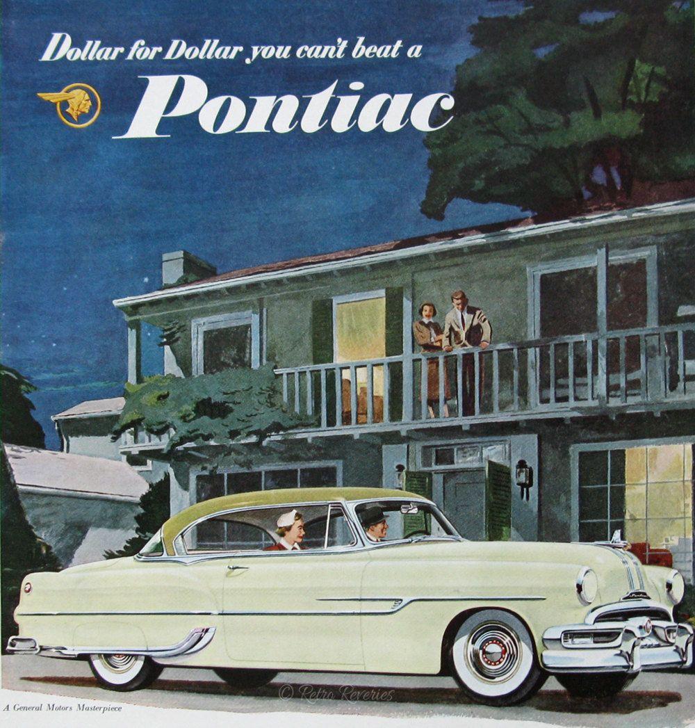 1953 Pontiac Custom Catalina Coupe Auto Ad - Retro 1950s Pontiac Car ...