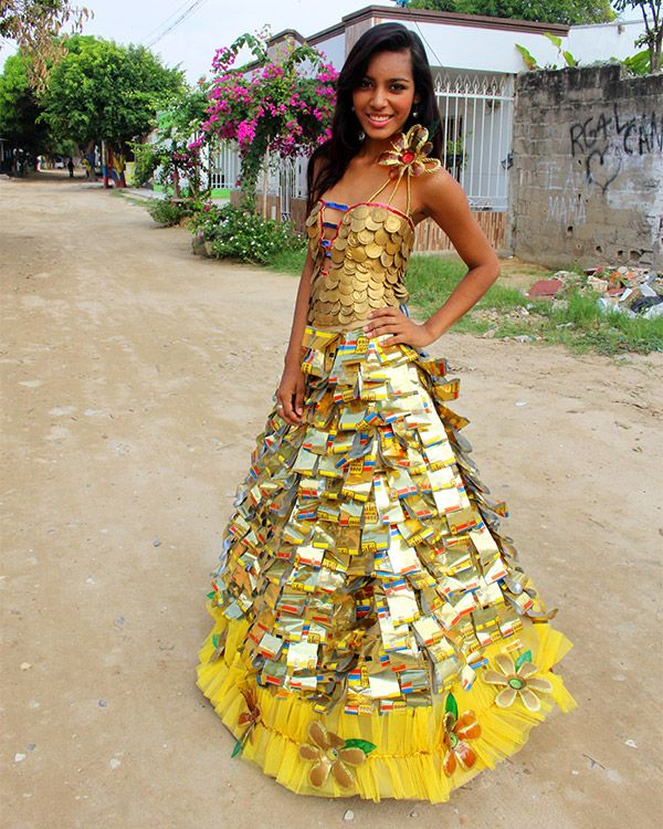 Juleimy (18) models a dress she helped make for school in ...
