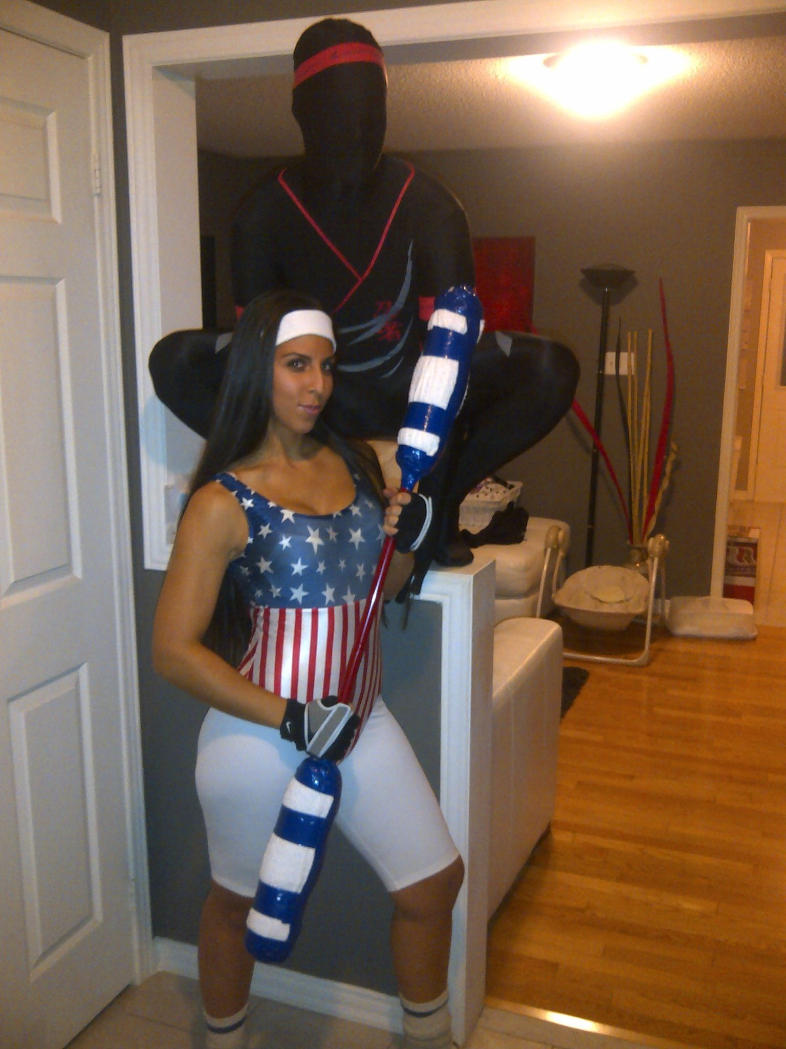 American Gladiator Halloween costumes. All made from stuff around ...