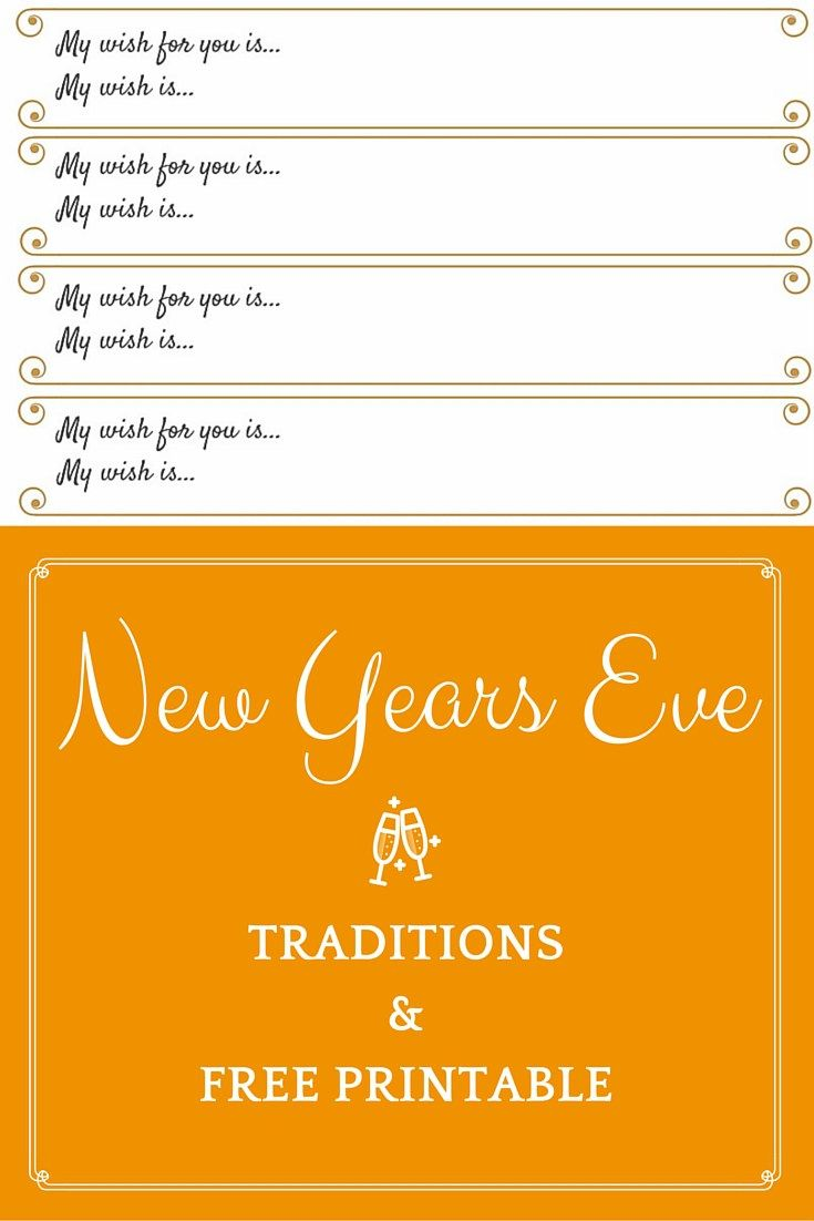 New Years Eve Traditions and Free Printable