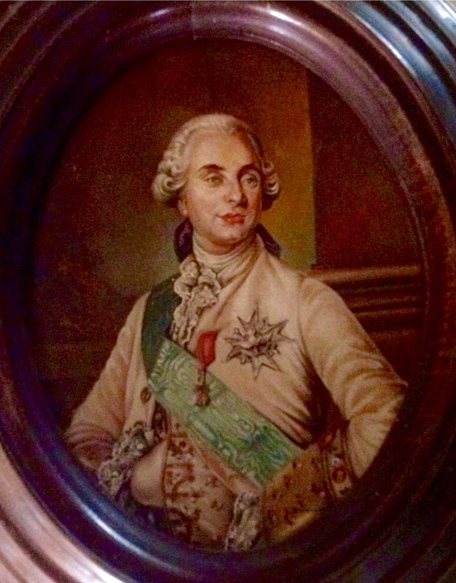 Miniatura de Luis XVI por Luis Zermeño Rico en Oleo