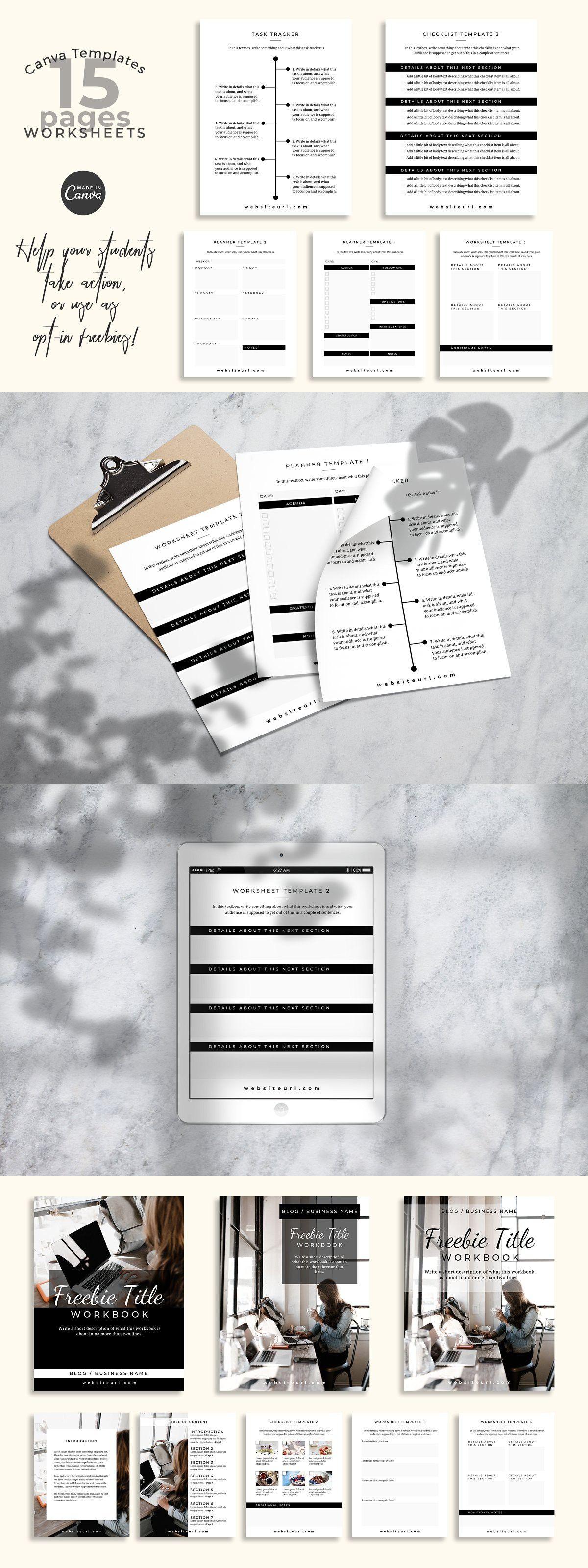 Workbook Canva Templates (Montana) in 2020 Workbook