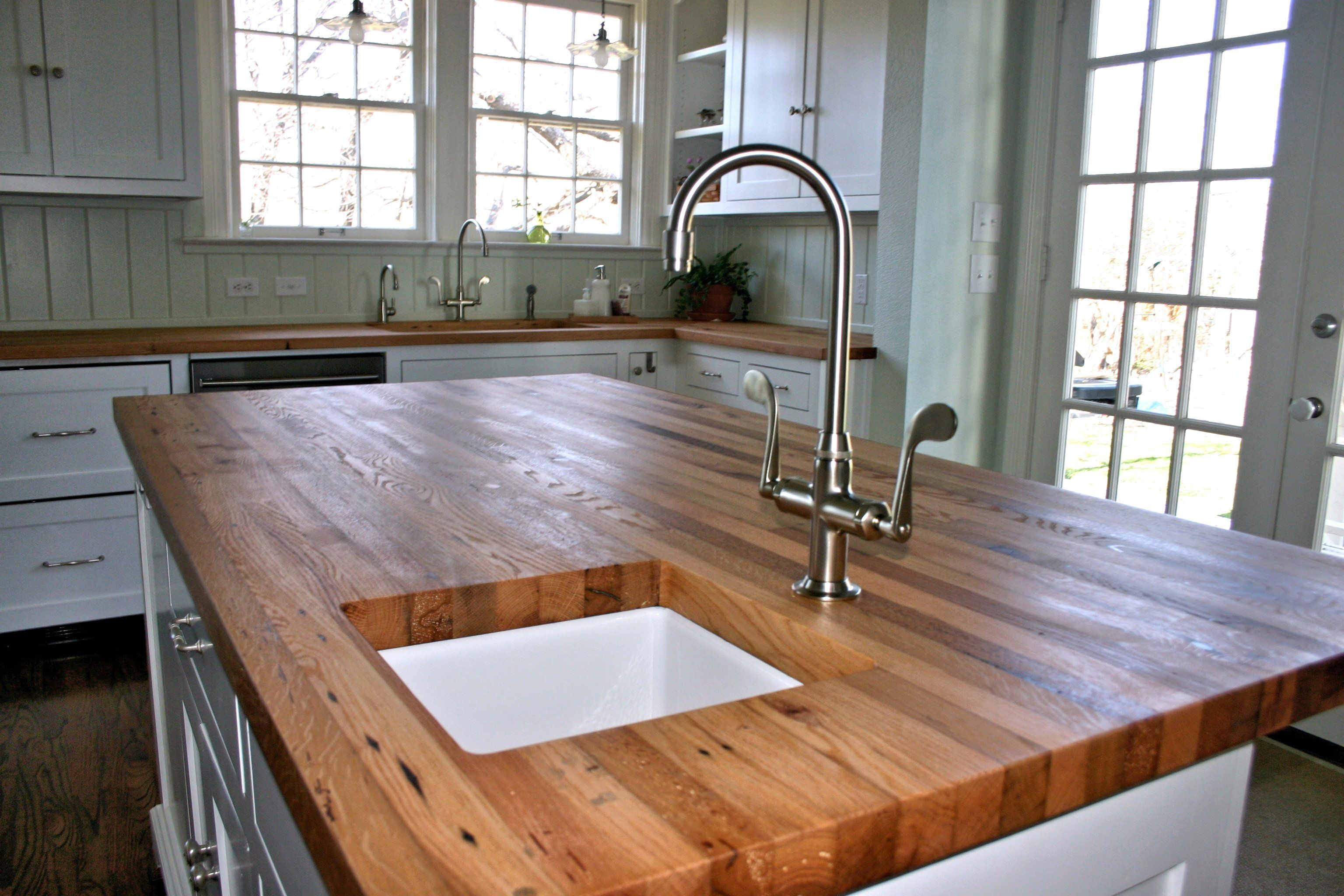 Devos Custom Woodworking Reclaimed White Oak Wood Countertop Photo Gallery Another Outdoor Kitchen