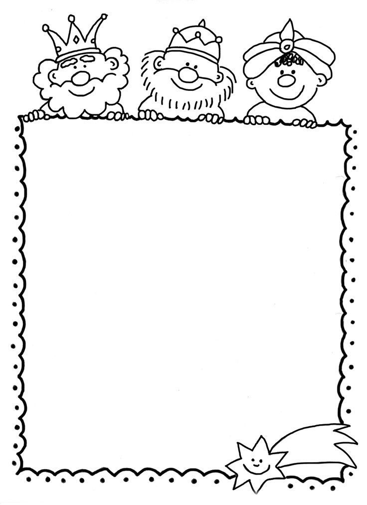 Worksheet. Hoja para escribir la carta a los reyes magos estas navidades