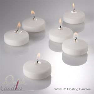 Richland Floating Candles 3 White Set Of 72 With Images White