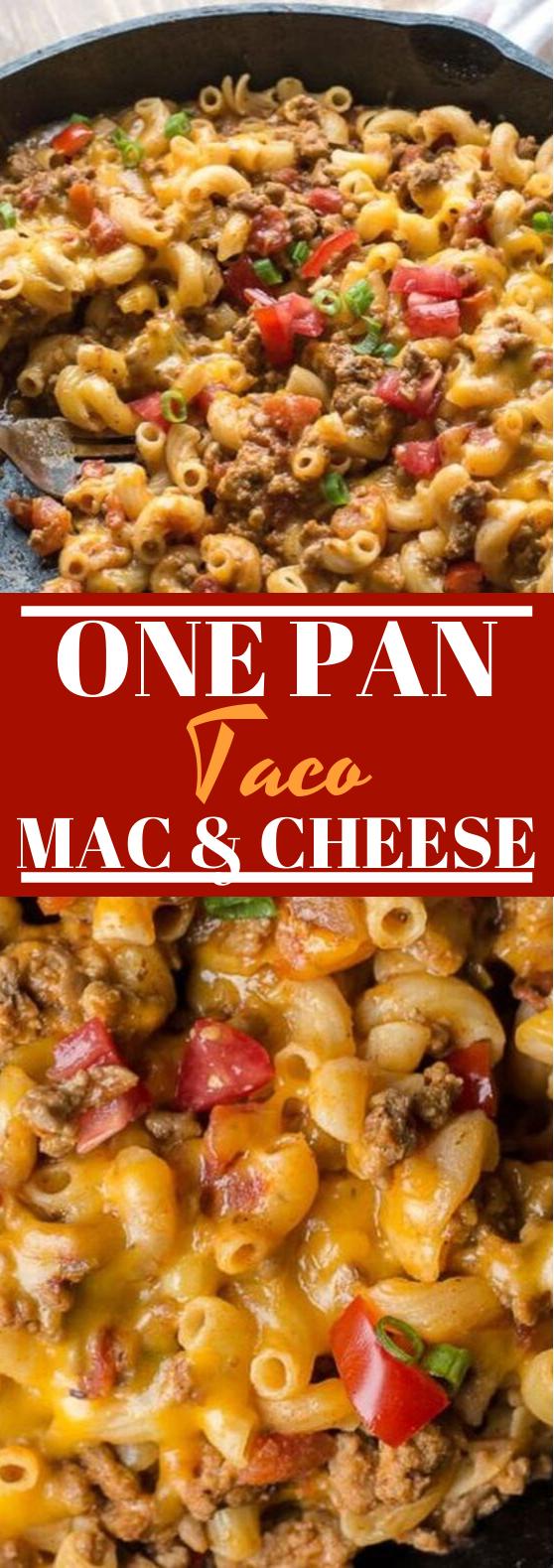 Easy Taco Mac (gluten free + one pan) #dinner #comfortfood