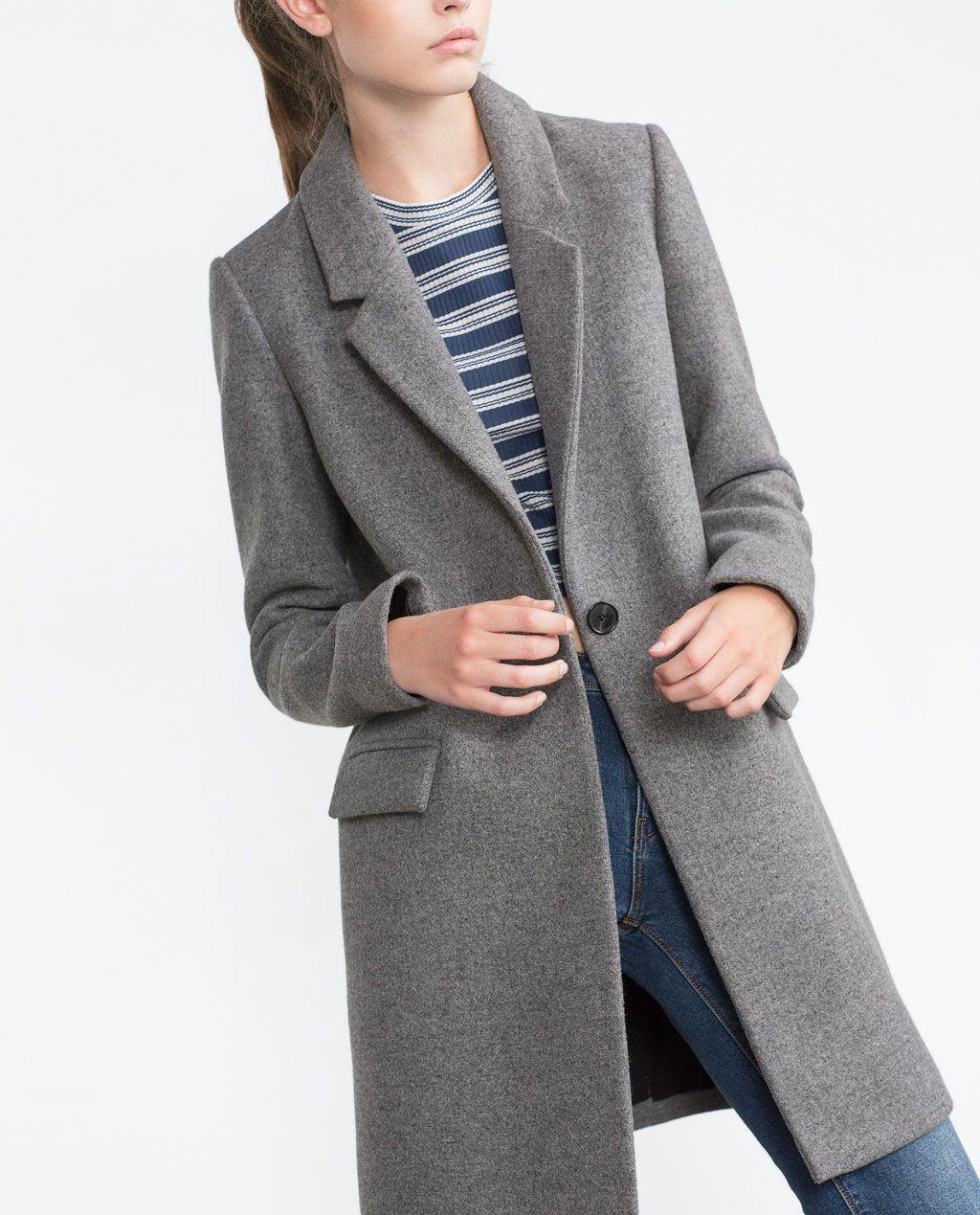 a0d6cdab MASCULINE COAT-Coats-Outerwear-WOMAN   ZARA United Kingdom   Want ...
