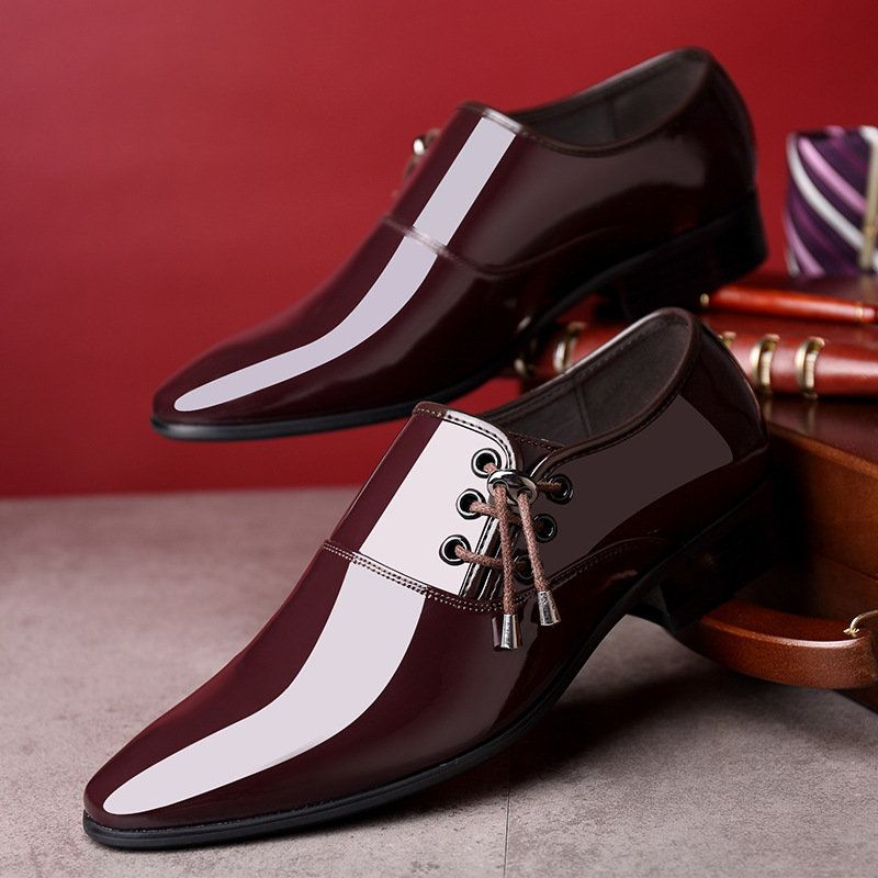 9048082228 Men Classic Patent Leather Formal Dress Shoes in 2018