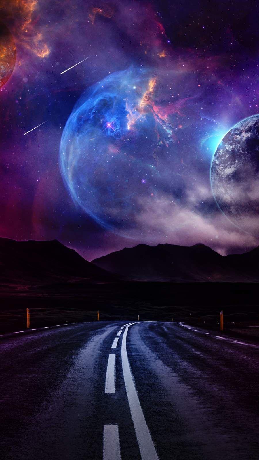 Cosmic Road - IPhone Wallpapers