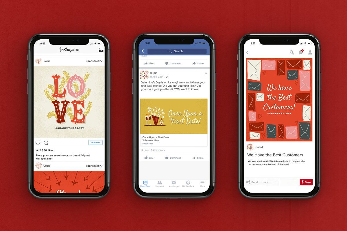 Valentine S Day Social Pack Sponsored Travel Time Beautiful Chocolate Affiliate Instagram Template Instagram Templates