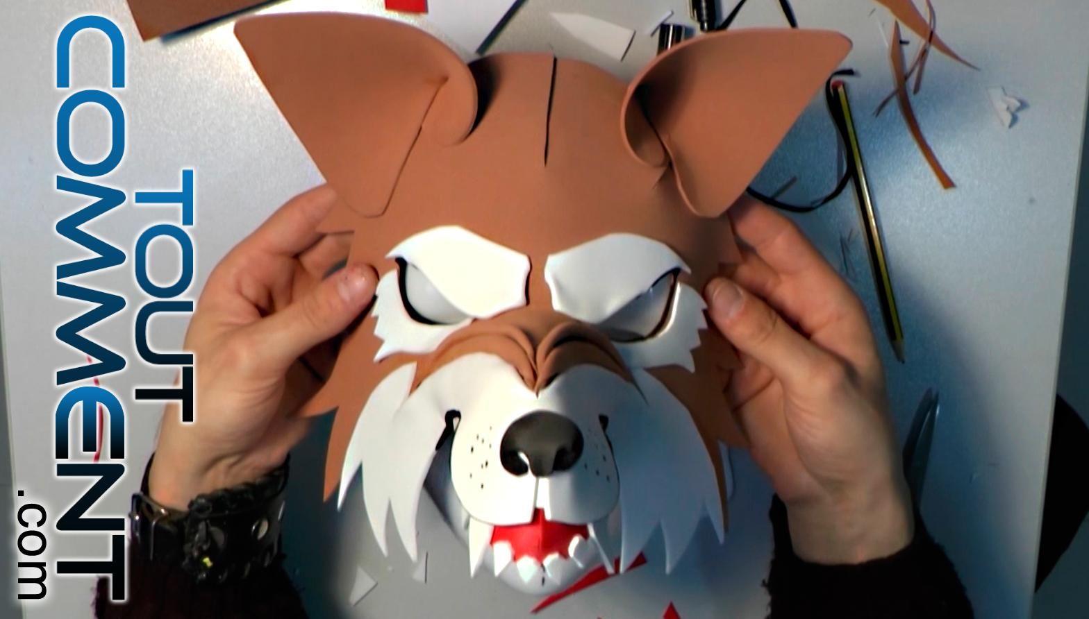 comment faire un masque de loup garou que ce soit pour un carnaval une f te costum e ou pour. Black Bedroom Furniture Sets. Home Design Ideas