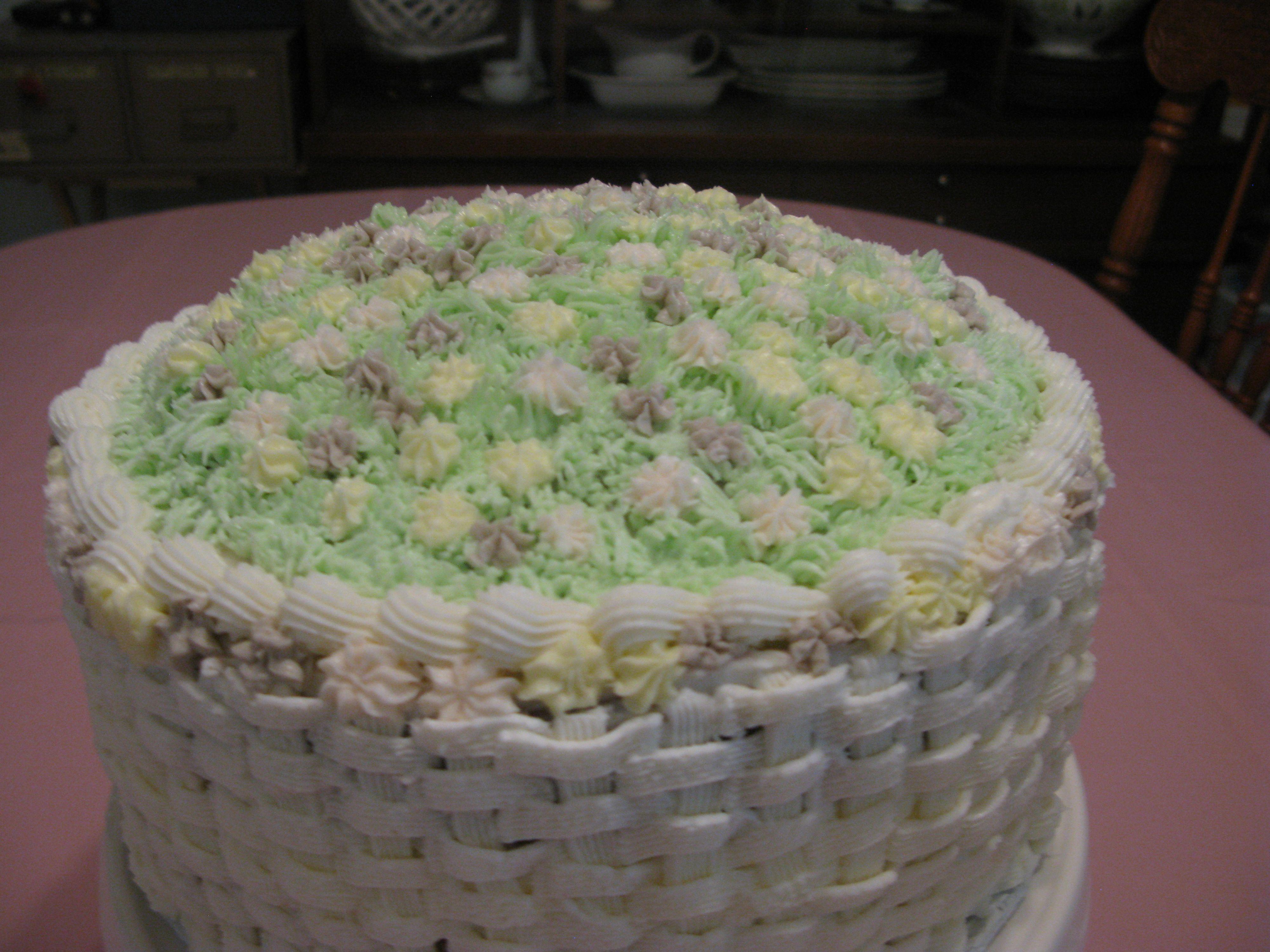 Basket Weave Cake in 2020   Spring cake, Cake, Basket ...