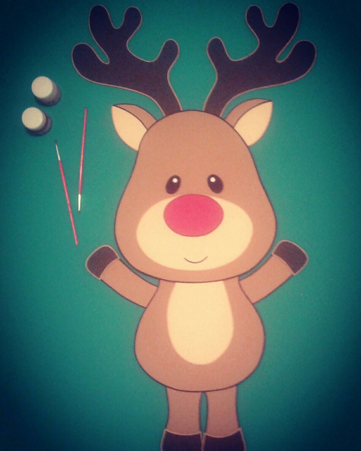 Dibujos de renos navidenos en foami