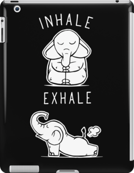 Funny Elephant Inhale Exhale Yoga Ipad Snap Case by ONCE ADAM