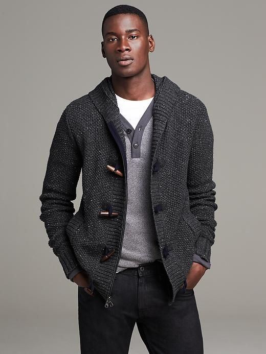 Heritage Cable Knit Hooded Sweater Jacket Product Image