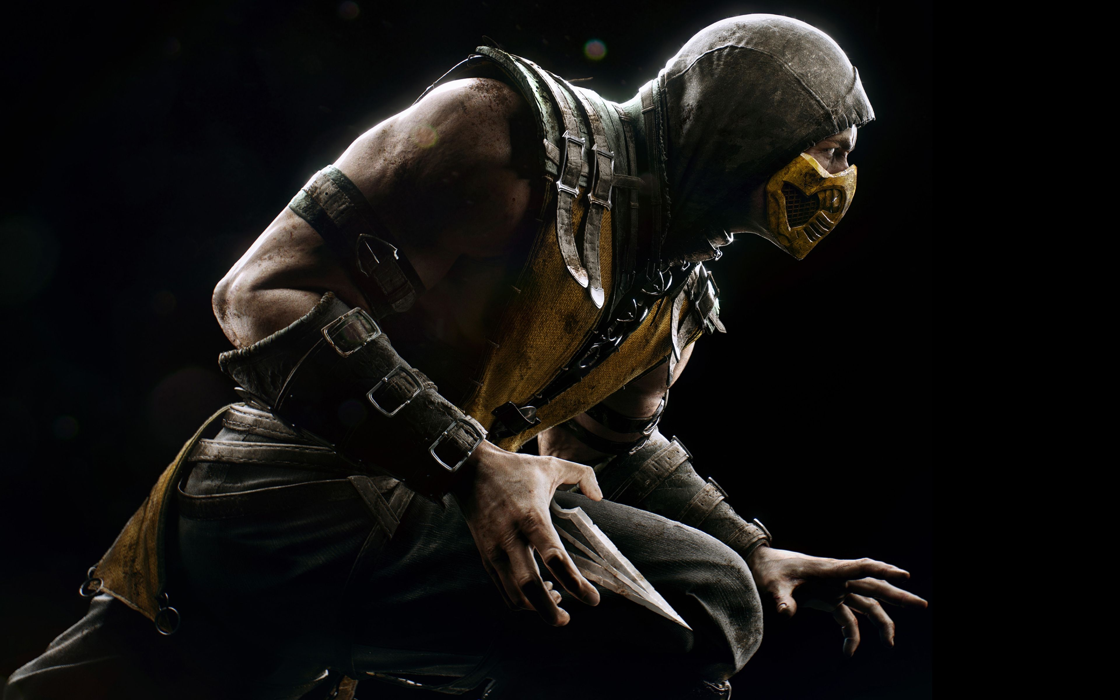 Download Wallpaper 3840x2400 Mortal Kombat X Scorpio Ninja Pose Ultra Hd 4k Hd Background Mor Eğlence