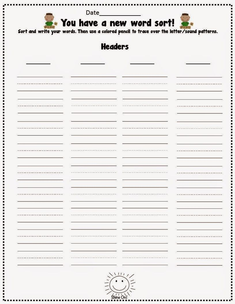Streamlining Words Their Way FREEBIE booklet 2 sides for the – Words Their Way Worksheets