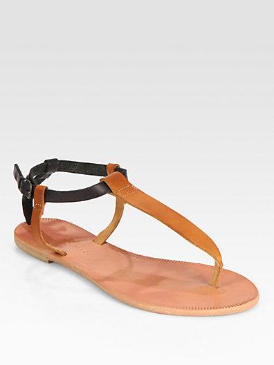 Shoal Leather T Strap Sandal Flats T Strap Sandals