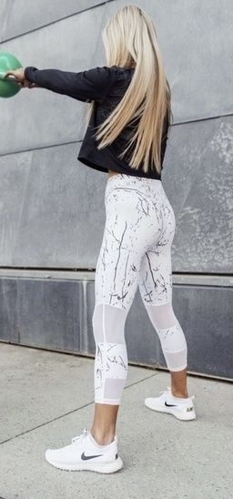 Stylish Active Wear Nike Marble Leggings Nike