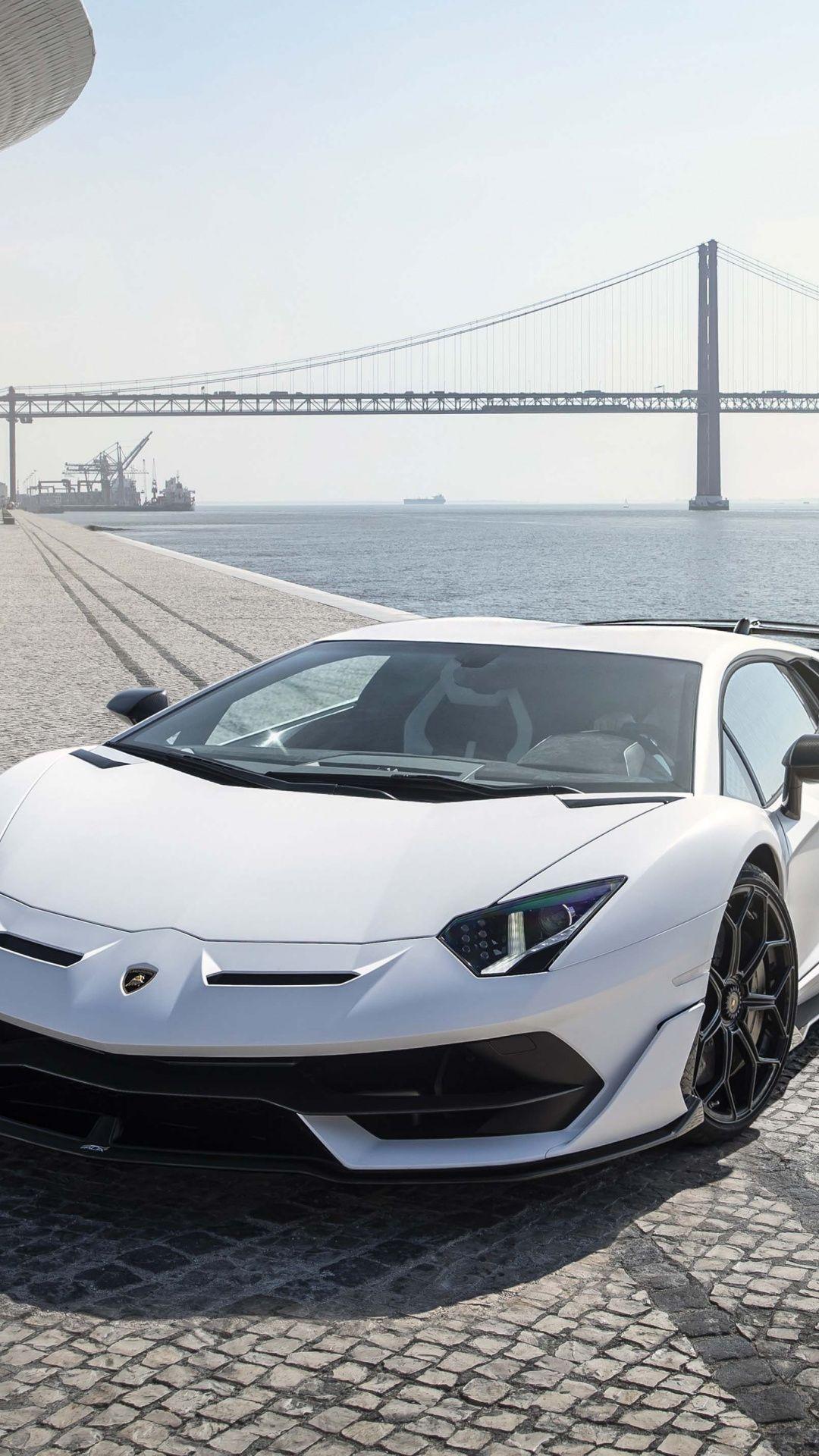 Lamborghini Aventador Svj White Lisbon Sports Car 1080x1920 Wallpaper Lamborghini Aventador Lamborghini Sports Car