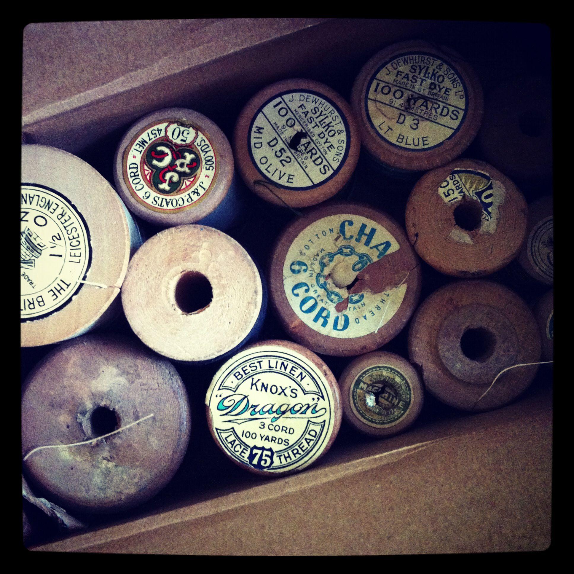 My vintage wooden bobbins have arrived!