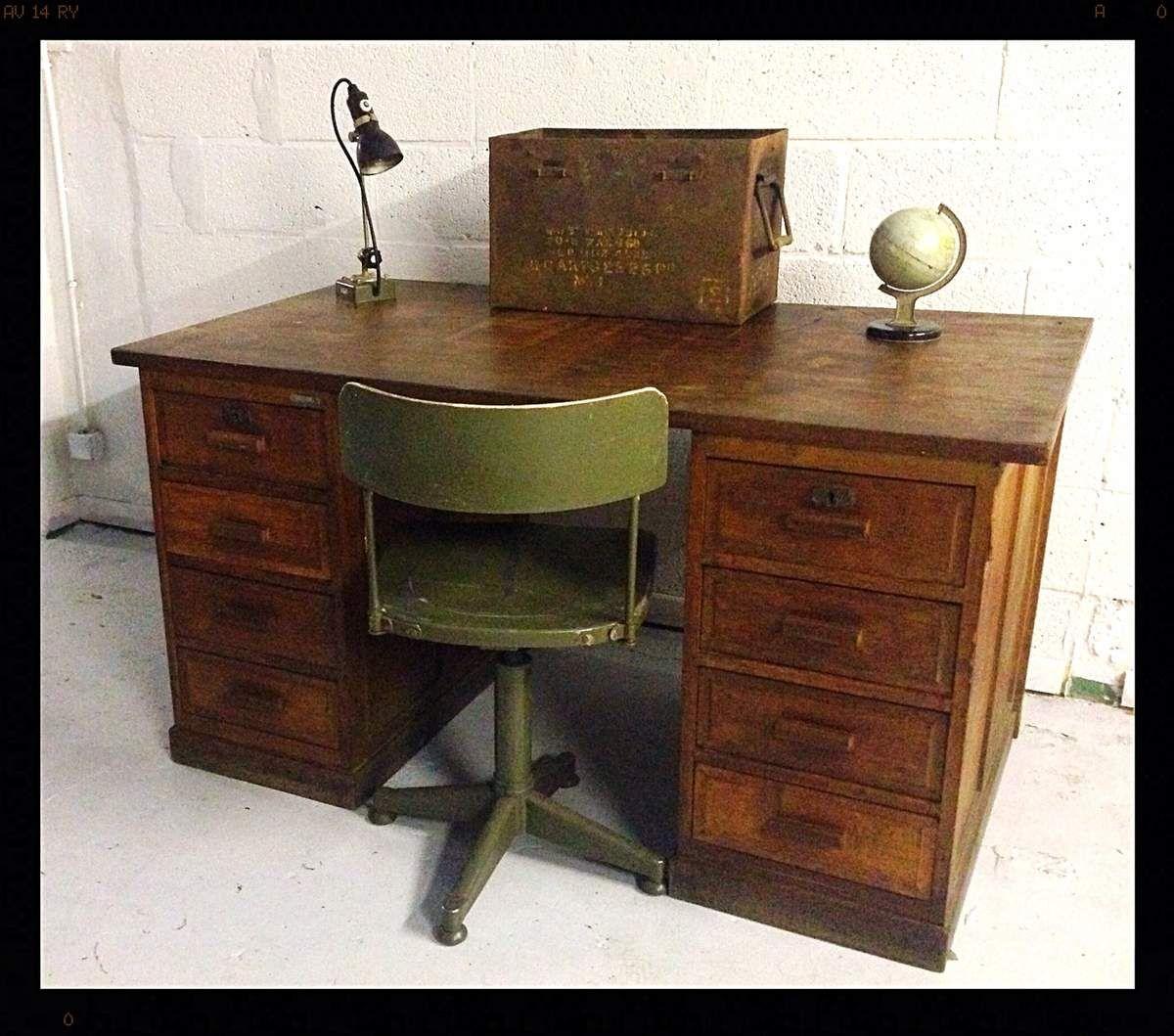 Vendu Bureau Americain Hods Design Antiques Vintage Interior Desk Office Desk