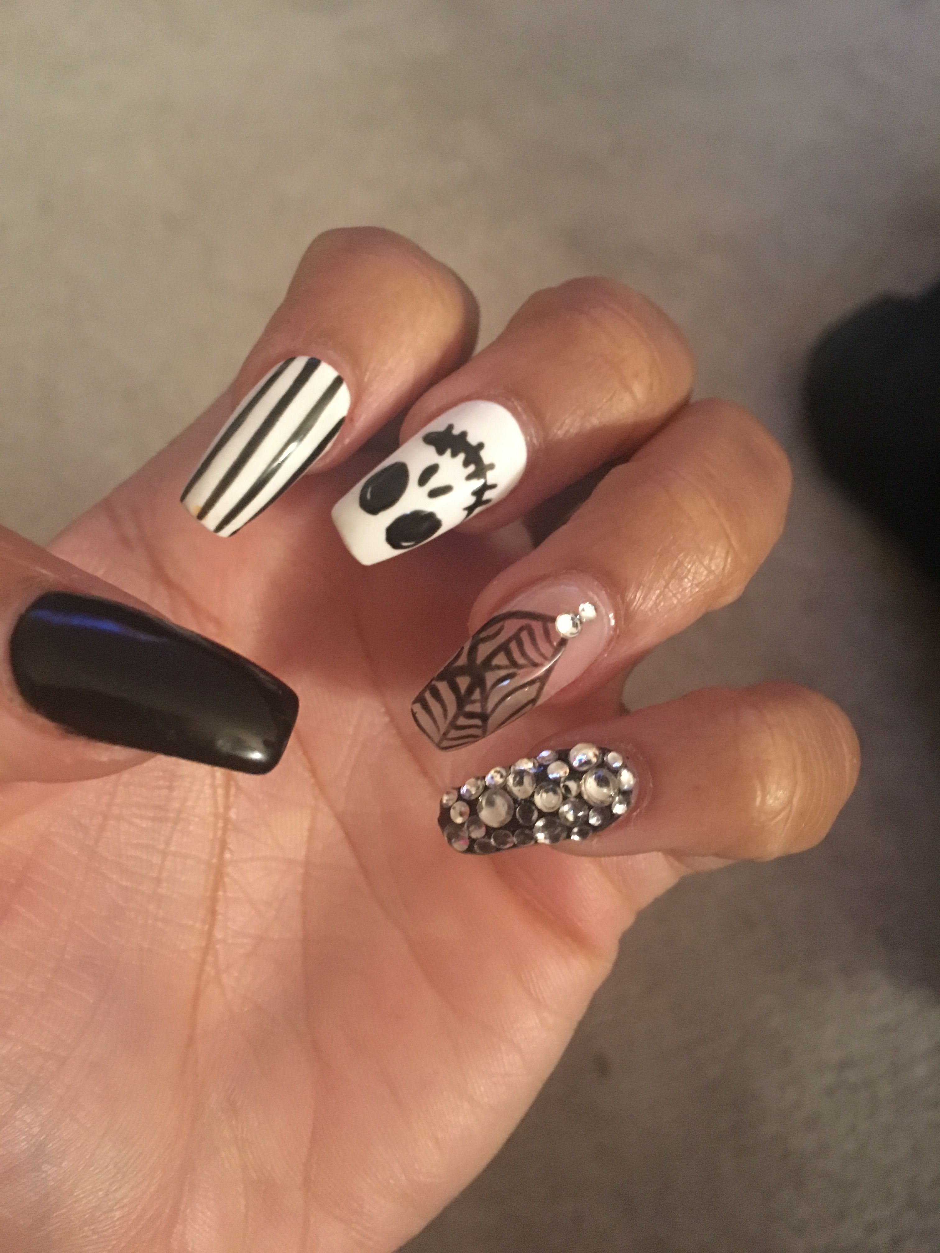 Halloween nails #jack   My Nail designs   Pinterest