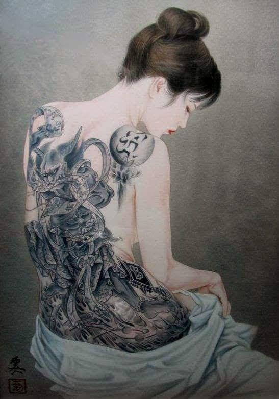 Art By Ozuma Kaname Japanese Tattoo Art Japanese Women