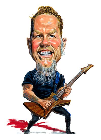 James Hetfield ( Metallica ) ...artwork by ExaggerArt http://exagger-art.artistwebsites.com/