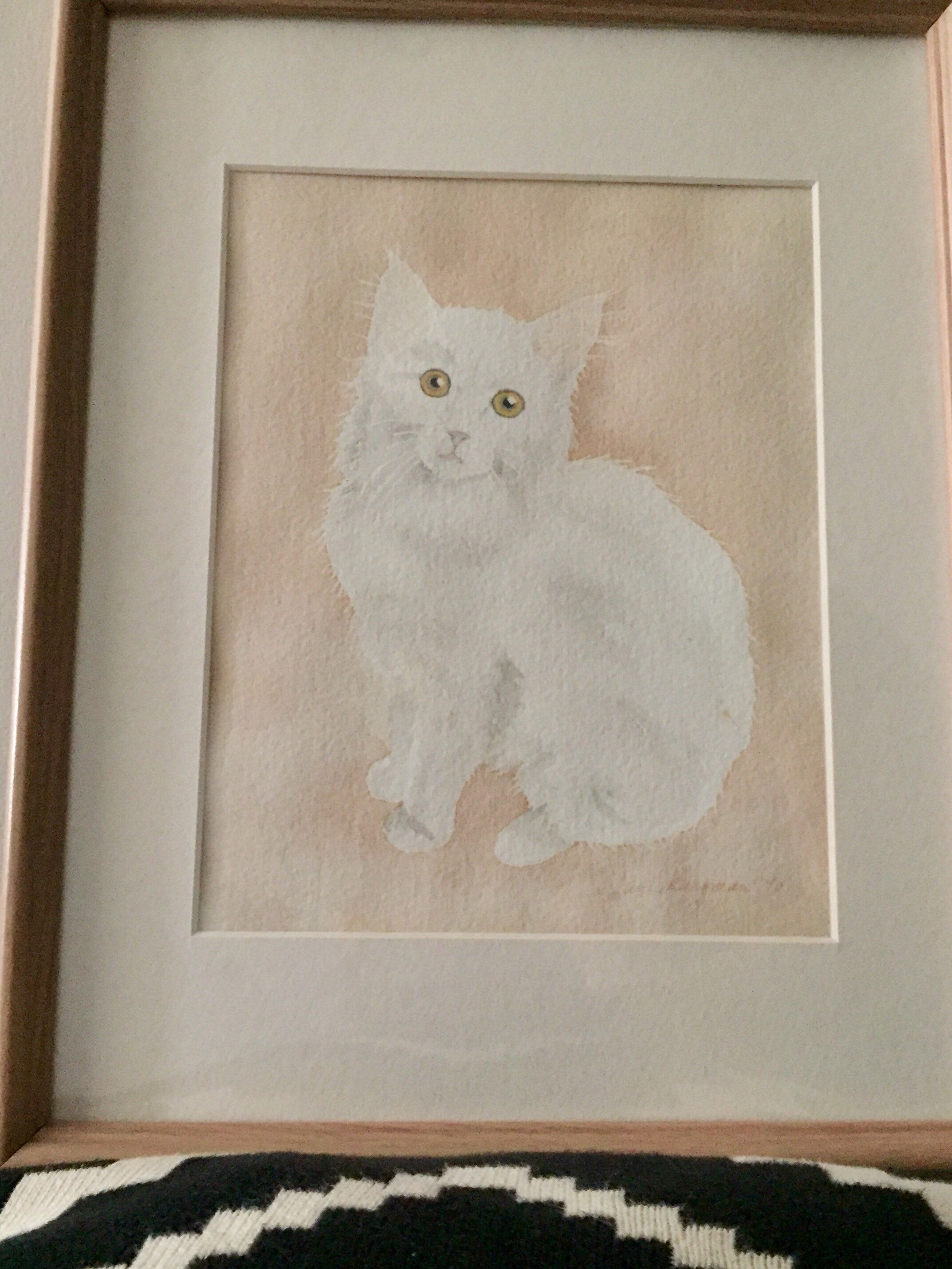 Excited To Share This Item From My Etsy Shop Vintage Original Watercolor Painting Signed Sweet Kitt Cottage Chic Nursery Painted Signs White Fluffy Kittens