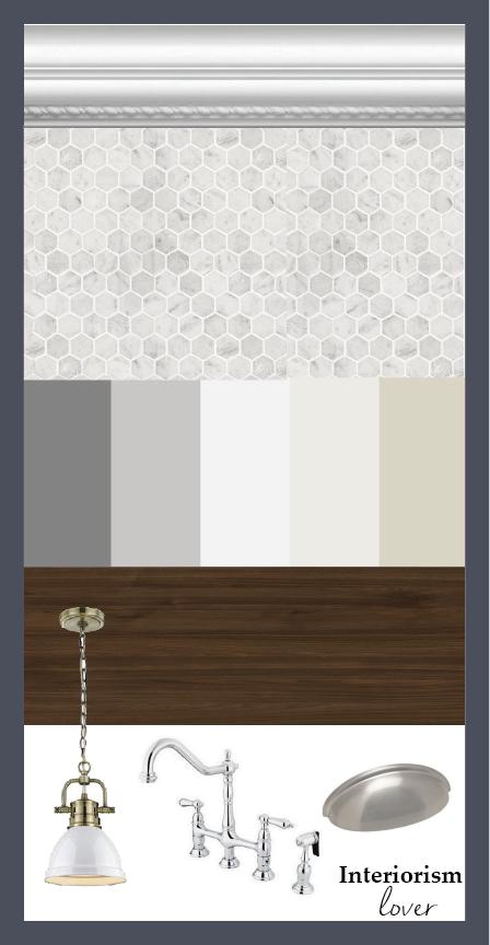 Estilo transicional: molduras, colores neutros, mármol y madera ...