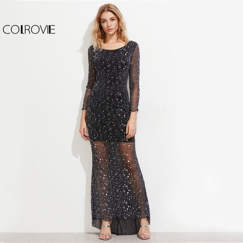 Price: $18.48 Like and Share if you want this     Get it here ---> https://www.yamidoo.com/colrovie-sparkle-mesh-overlay-maxi-party-dress-2017-black-sequin-sexy-backless-women-summer-dresses-lettuce-edge-elegant-dress/    #yamidoo
