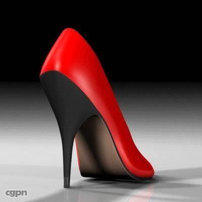 High Heels Women Shoes 3d model CGStudio