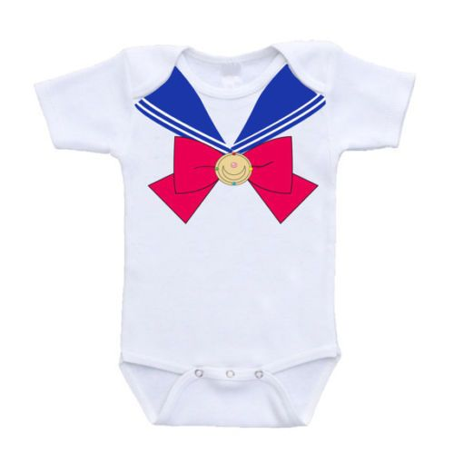 843edb9be Sailor Moon Outfit Design Anime Baby Onesies Rompers One Piece ...
